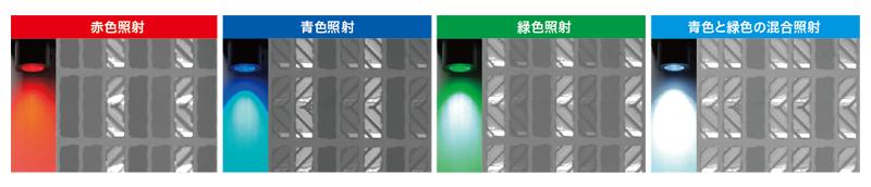 红色照射蓝色照射绿色照射蓝色和绿色的混合照射(图)
